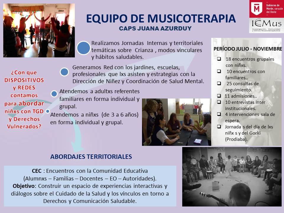 MUSICOTERAPIA CAPS JUANA para jornada 12 de dic